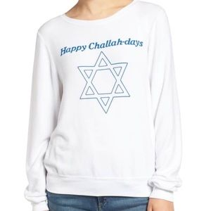 Wildfox happy challadays pullover size M, NWT
